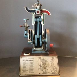 Dwarsdoorsnee van een dieselmotor