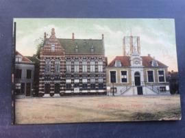 Wageningen, Raadhuis en Postkantoor, 1907