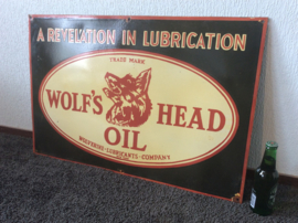 Emaille bord Wolfs Head Oil