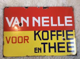 Emaille reclamebord, Van Nelle voor Koffie en Thee