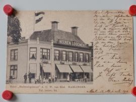 """Harlingen, Hotel `Heerenlogement""""A.C.van Riet (1911)"""