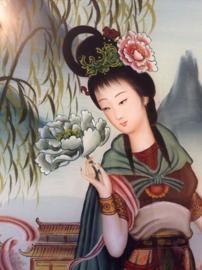Achter glas schildering, China (1970-1980) Nr 1