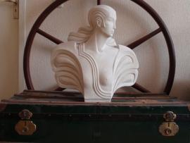 Beeld Art Deco Vrouwenhoofd