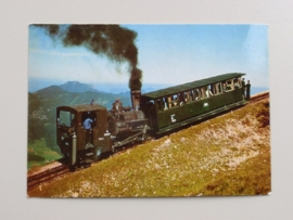 Fahrt zum Schafberggipfel, 1781 m, mit Zahnradbahn