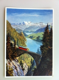 Mount Pilatus Railroad on the Wolfort viaduct