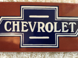 "Emaille reclamebord ""Chevrolet"""