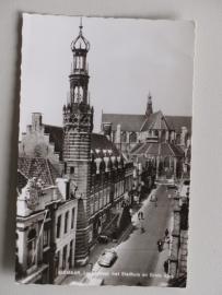Alkmaar, Langestraat met Stadhuis en Grote Kerk