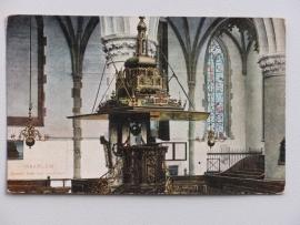 Haarlem, Groote Kerk met preekstoel (1909)