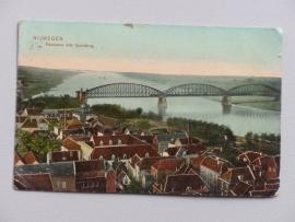 Nijmegen, Panorama met Spoorbrug  (1908)