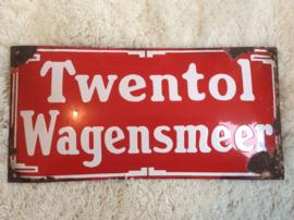 Emaille reclamebord, Twentol Wagensmeer