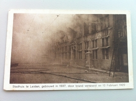 Leiden, Stadhuis door brand verwoest op 12 feb 1929