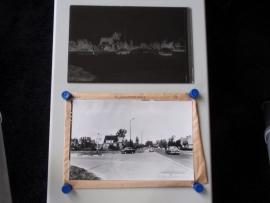 Lemmer, Rijksstraatweg, foto plus glasnegatief