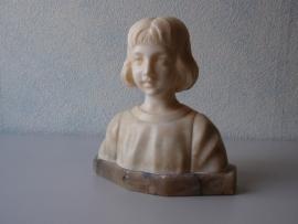 Albasten beeld van meisje