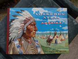 Plaatjesalbum Volkerenatlas Amerika  N.V. De Faam Breda