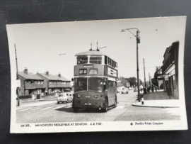 Manchester Trolleybus at Denton, 06-08-1961