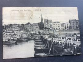Arnhem, Schipbrug over den Rijn, 1914