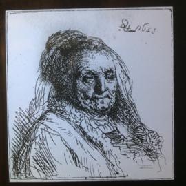 Glasfotos, Etsen van Rembrand en anderen 14x
