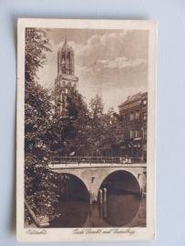 Utrecht, Oude Gracht met Gaardbrug  1925)