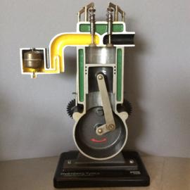 Dwarsdoorsnee van een 4 takt motor