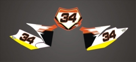 KTM SX-SXS 2011-2012 serie1 numberplateset