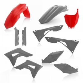 FULL KIT PLASTIC HONDA CRF450 + CRF250 2019 7 pieces - RED/GREY