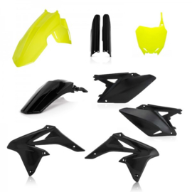 FULL KIT PLASTICS RMZ 250 2010-2018 - FLO YELLOW/BLACK