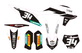 KTM complete set 2019 MXGP white/black