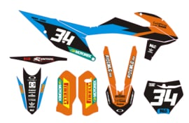 KTM complete set 2019 mxgp cyan/orange