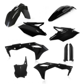 FULL KIT PLASTIC KAWASAKI KXF 250 18/19 - BLACK