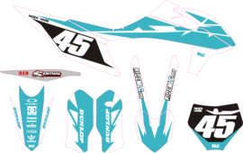 KTM complete set strider Teal/white