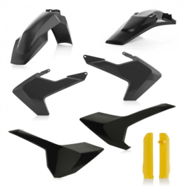PLASTIC FULL KITS HUSQVARNA TE/FE 17/19 - BLACK/YELLOW