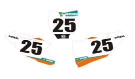 Nummerset factory 18 KTM SX-F SX 125 150 250 350 450 2016/2018