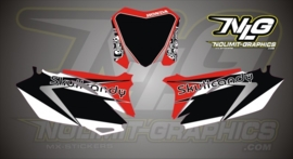 SkullCandy Numberplate set Kit voor CRF 250-2010-12 en CRF450-09-12