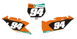 Nummerset factory 18 Orange KTM SX-F SX 125 150 250 350 450 2016/2018