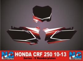 Honda crf 250 10-13 Numberplateset series-9