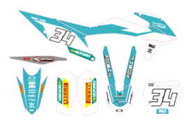 KTM complete set 2019 mxgp teal / white