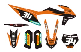 KTM Mx graphics/ stickersets
