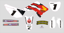 Stickerset fits RESTYLE KIT Polisport Honda cr125 cr250