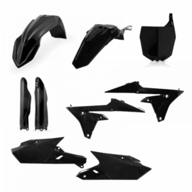 FULL PLASTIC KIT YAMAHA YZF250 14/18 + YZF450 14/17 - BLACK