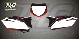 CRF numberplate graphic kit Bubble2 250-10-12 450 09-12