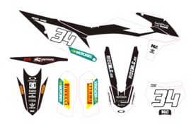 KTM complete set 2019 MXGP black/white
