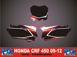 Honda CRF 450-09-12-numberplateset series-9