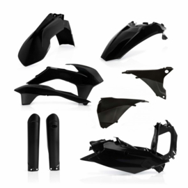 FULL PLASTIC KIT KTM EXC/EXC-F 2016 - BLACK