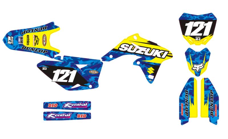 RMZ 250-10-18 complete set Camo Blue