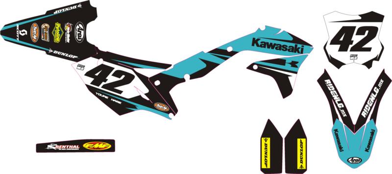 KXF 250 Teal graphic kit