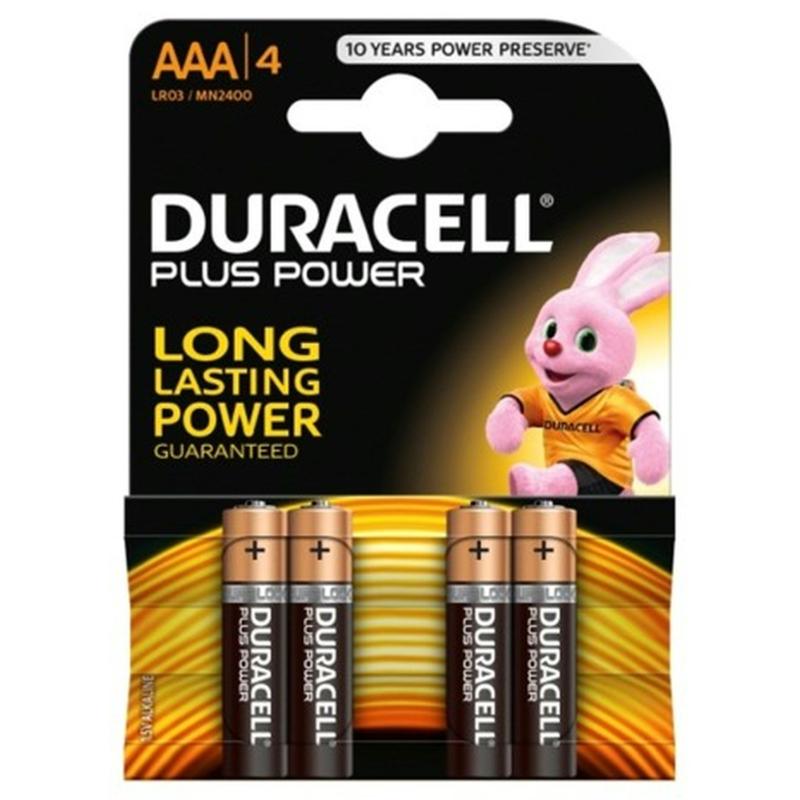 Duracell plus AAA pakje van 4 stuks .