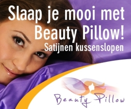 Beauty Pillow - wit satijnen kussensloop