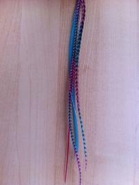 Mix rainbow roze/blauw - inclusief tinsel en microringen