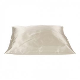 Beauty Pillow - creme satijnen kussensloop