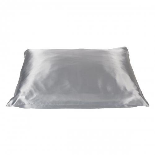 Beauty Pillow - zilveren satijnen kussensloop